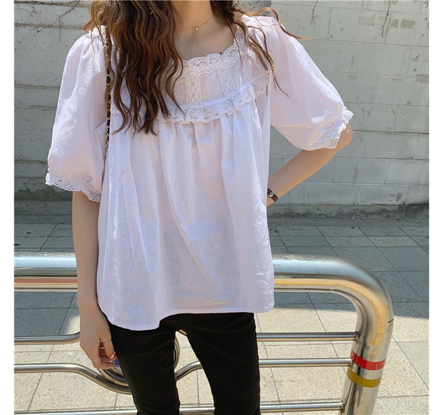 Round Race simple blouse