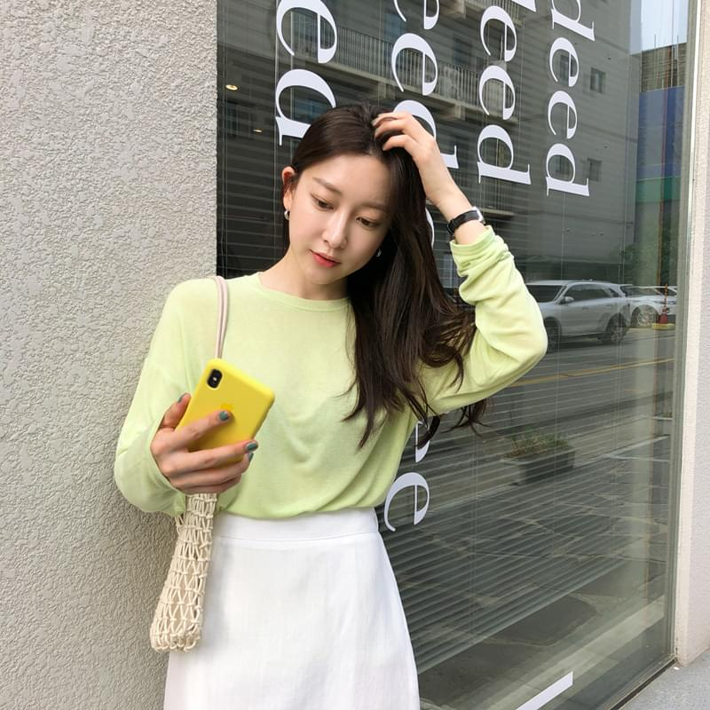Dayround t lime orange 長袖