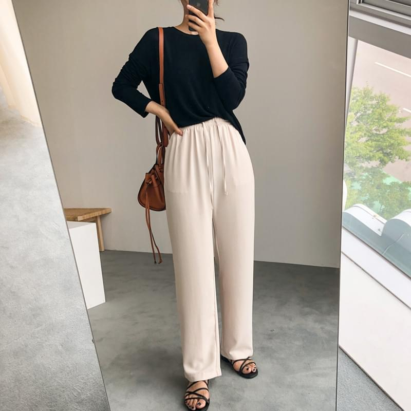 Color banding pants black