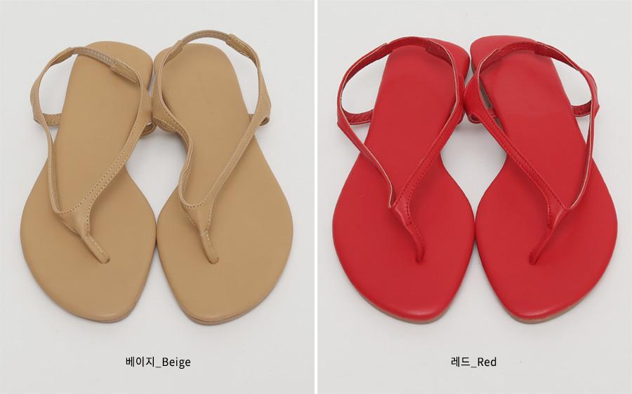 Color flip-flop sandal_B