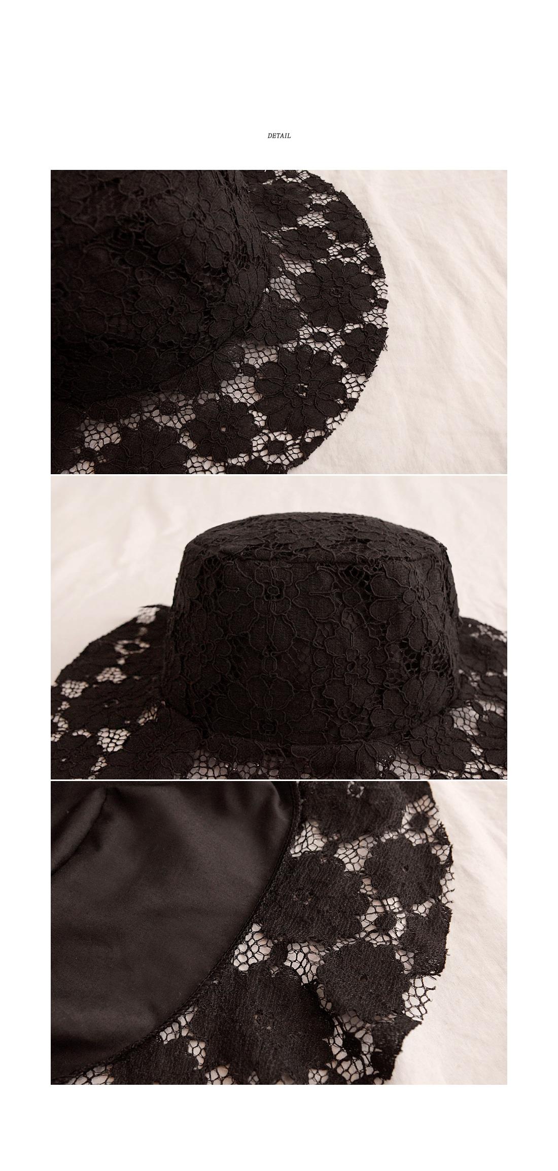 DELLE FLOWER LACE BUCKET HAT