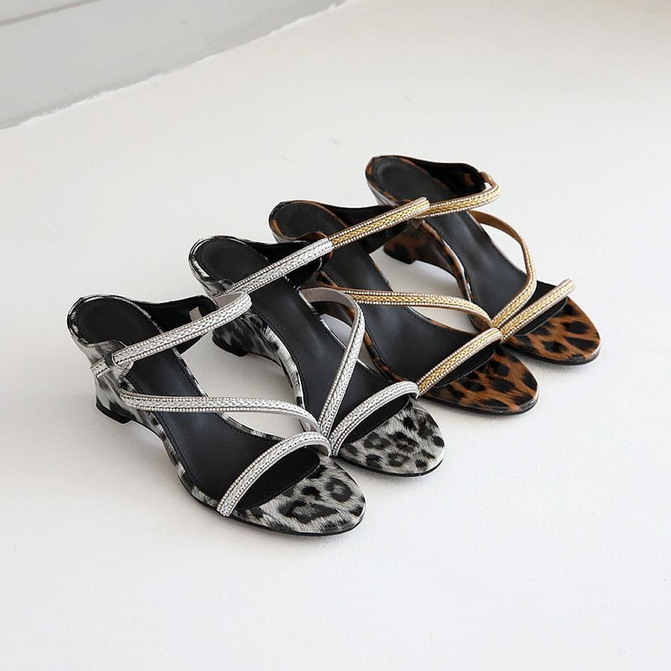 Ricoel Wedge Mule Slippers 6cm