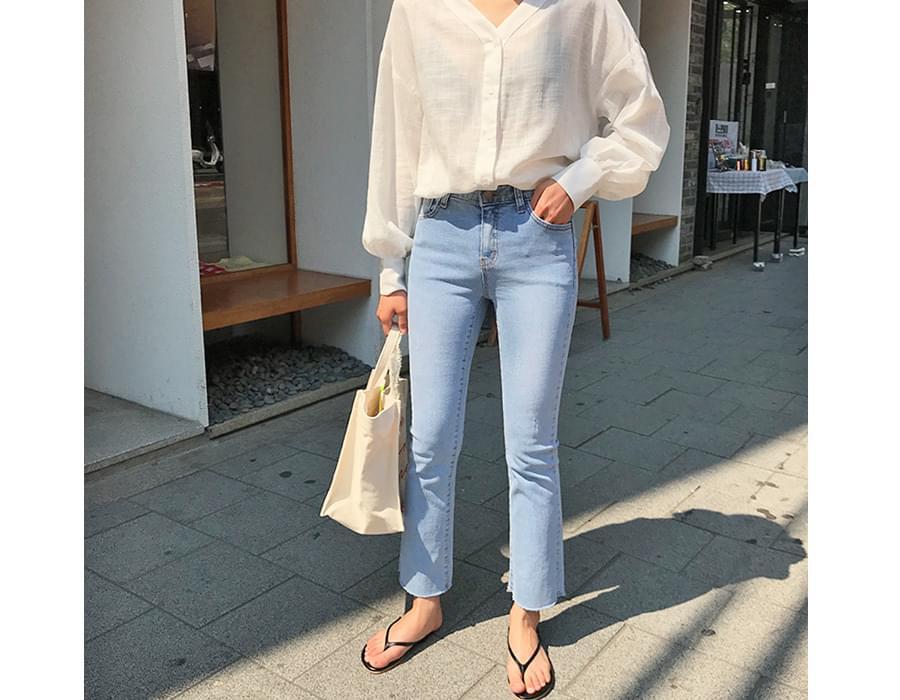 Curve line cotton shirts_K