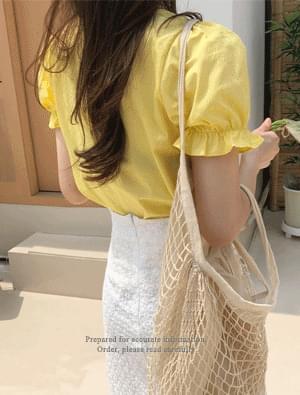 Yuzu Shirring Blouse