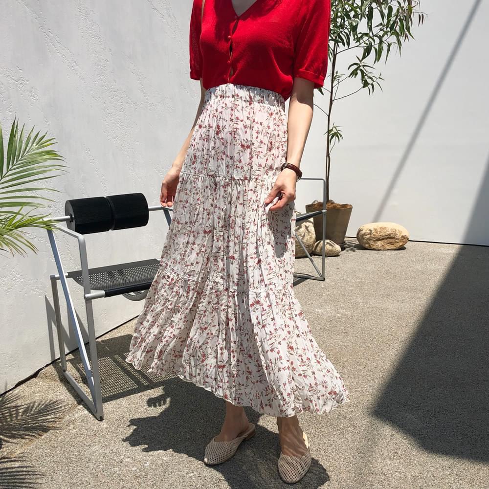 Strawberry plain skirt
