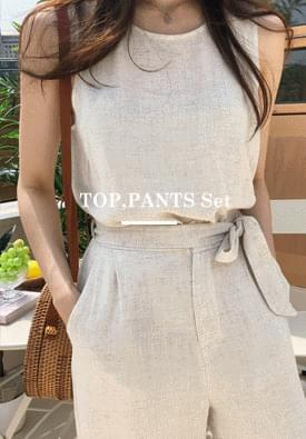 Two-way linen two-piece