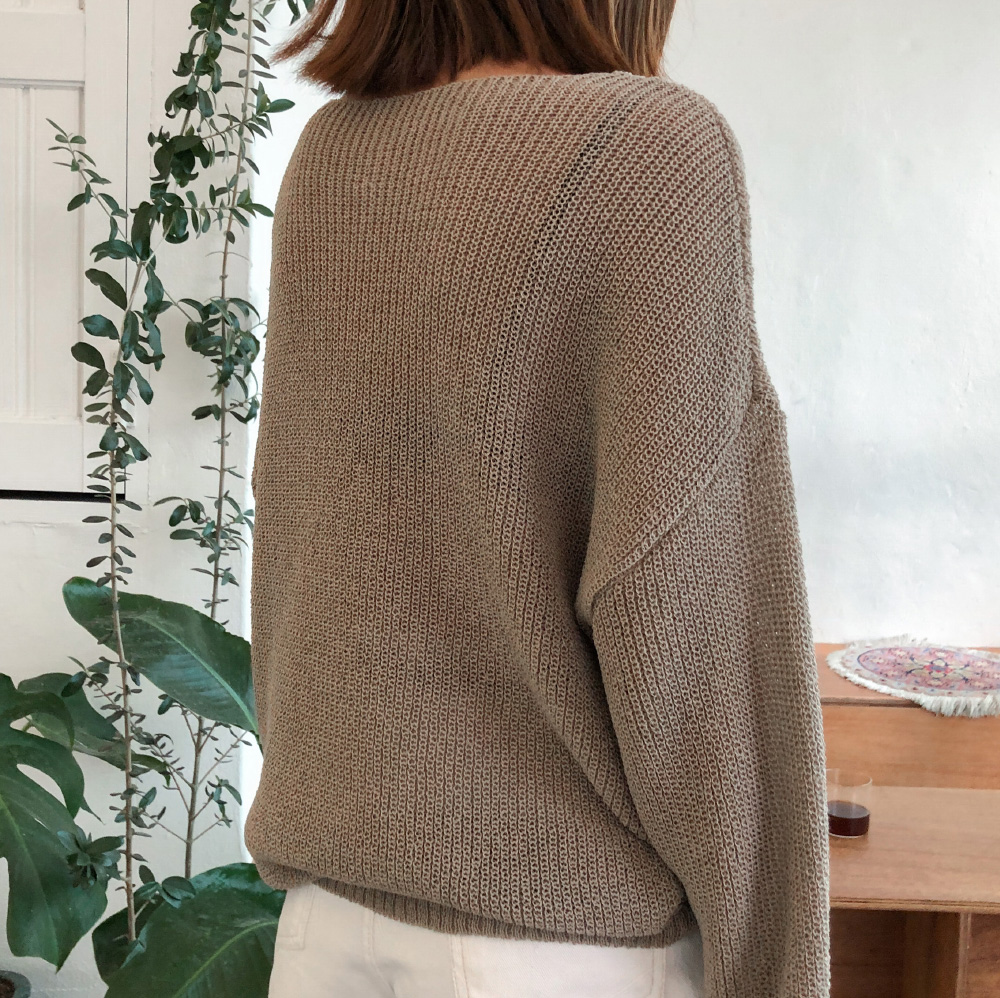 4 color daily loose fit knit daily loose fit punching knitwear