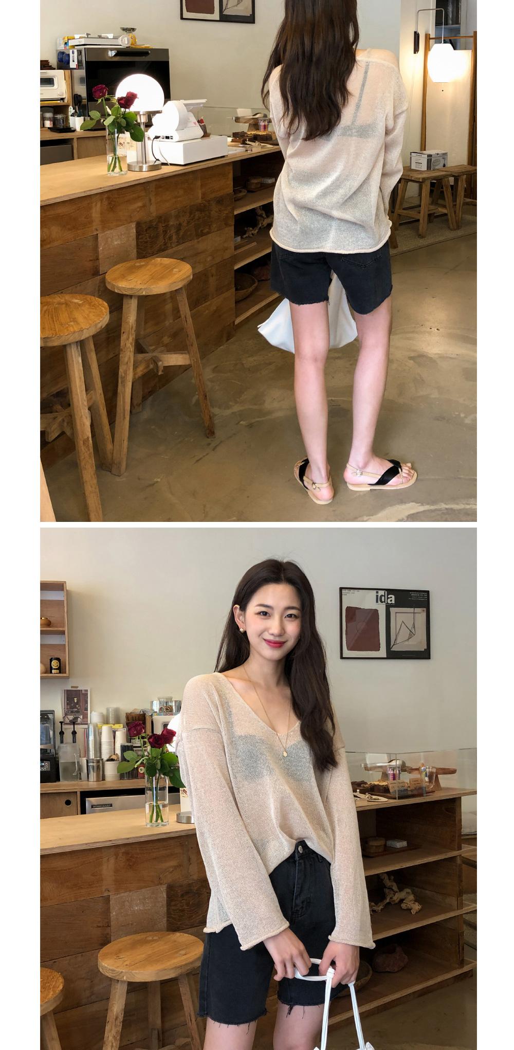 Natural cutting black denim short pants-spt