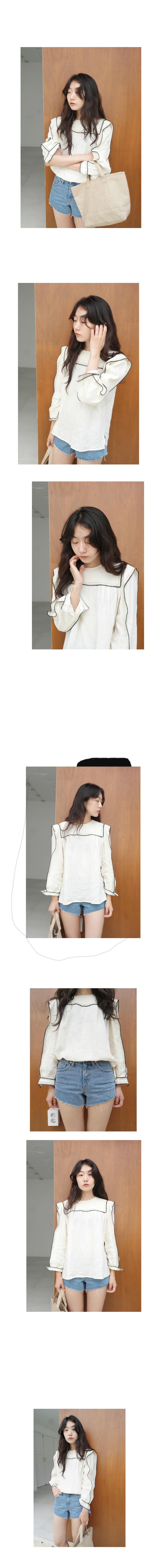 stitch line point blouse