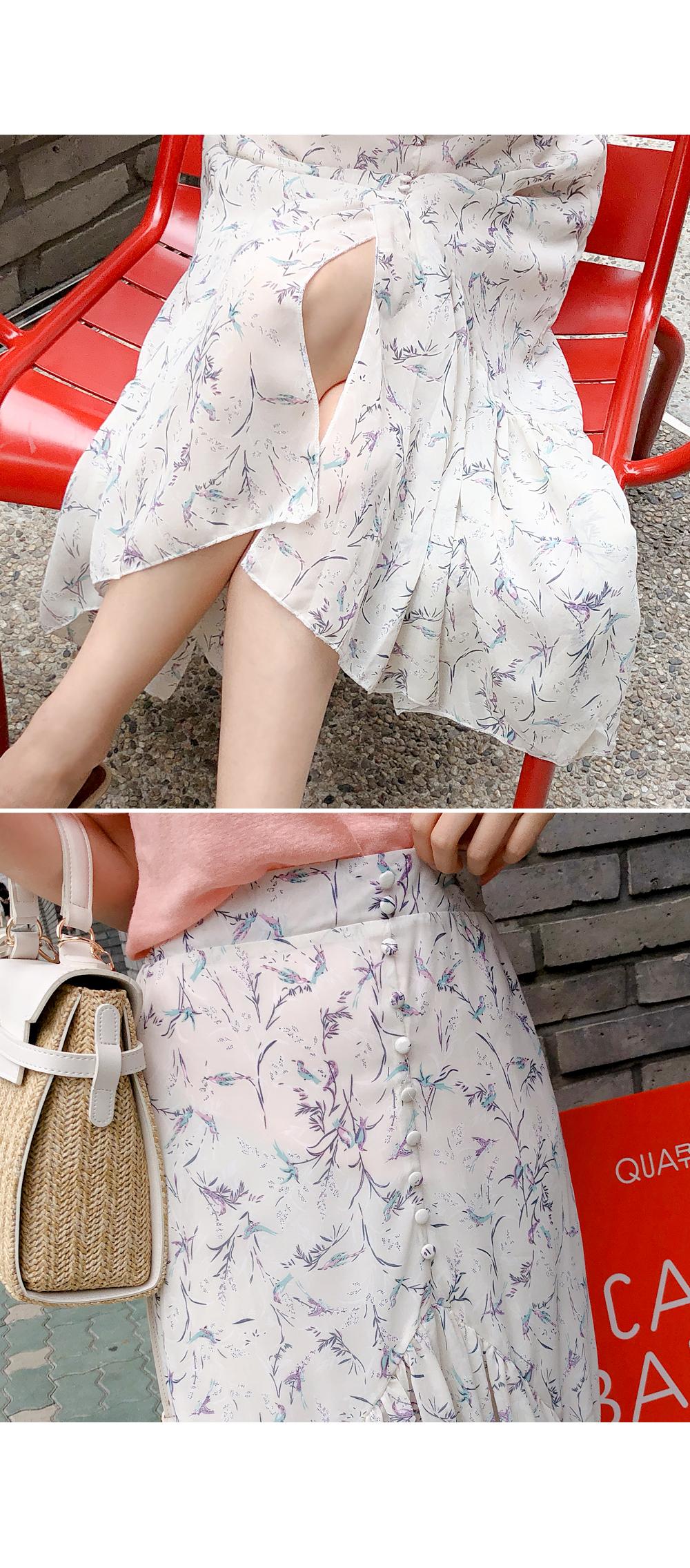 Bean Button Flower Skirt