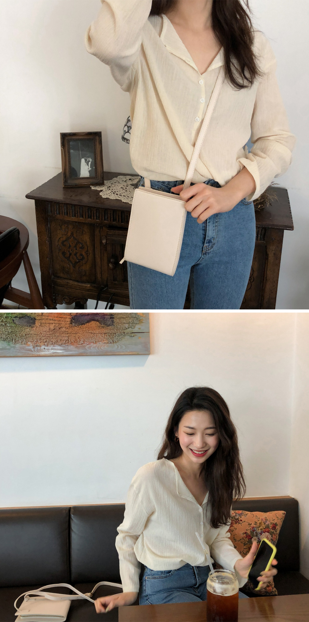 simple flat mini bag