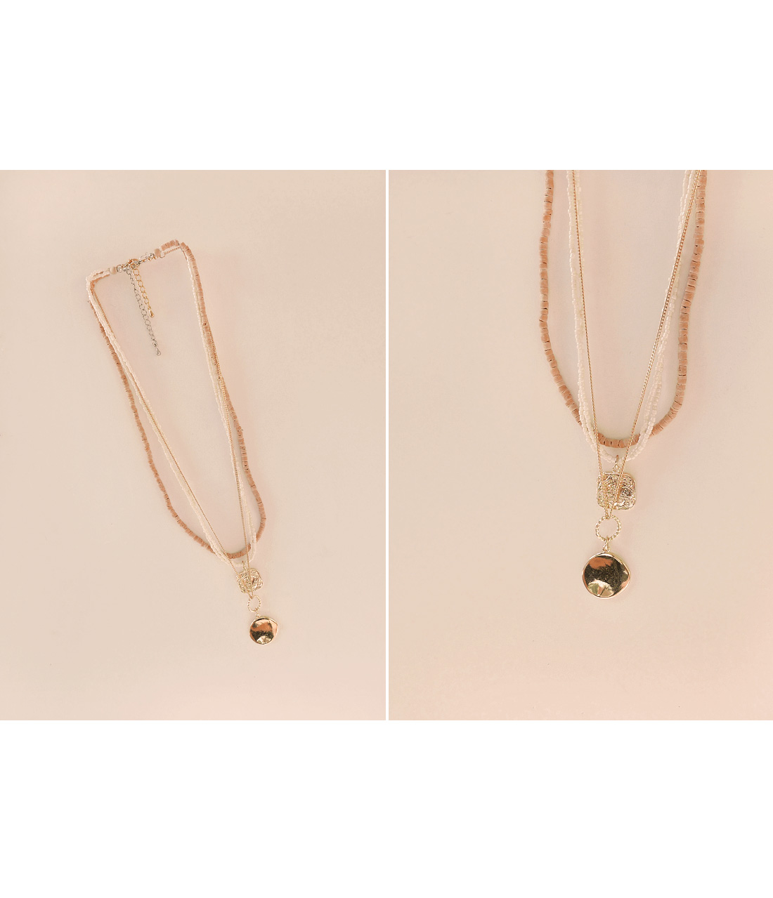 DALI WOOD PEARL NECKLACE