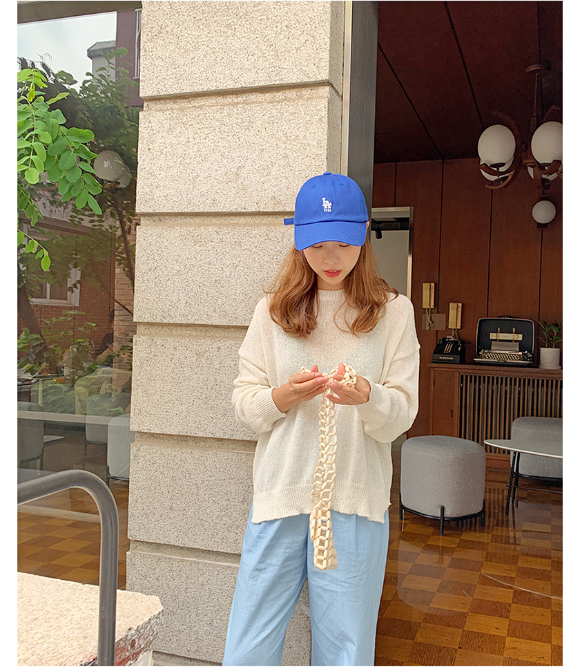 Cover linen round knit_B (size : free)
