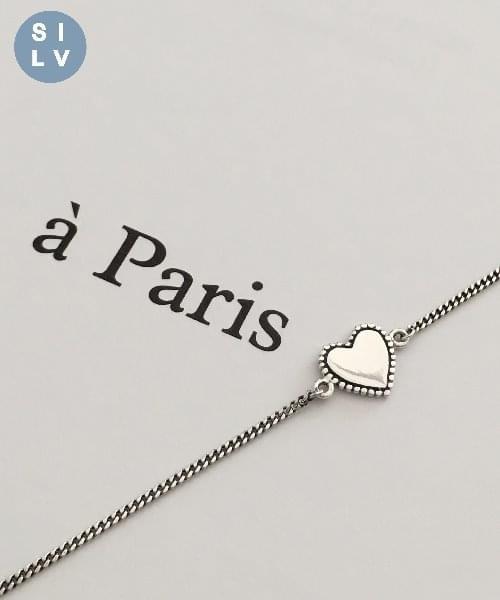 (silver925) vintage heart bracelet