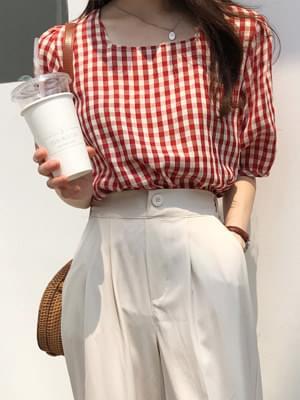 Dangdang check blouse