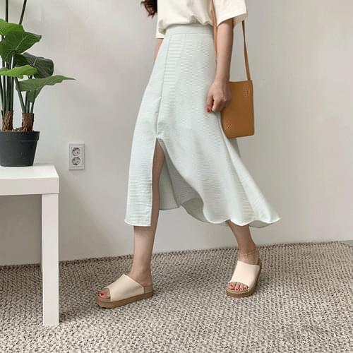 Roommate check skirt long skirt