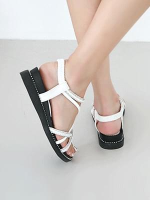 韓國空運 - Ellance Bending Sling Back Sandals 3cm 涼鞋