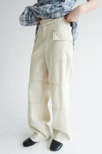 stitch detail cargo pants