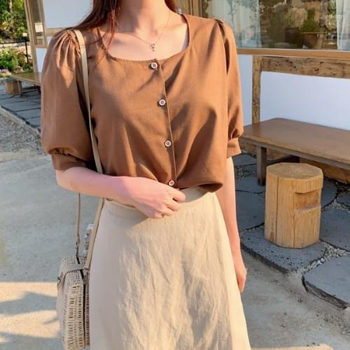 Diels linen puff blouse 襯衫