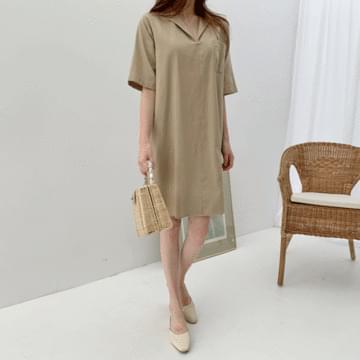 Solar linen dress