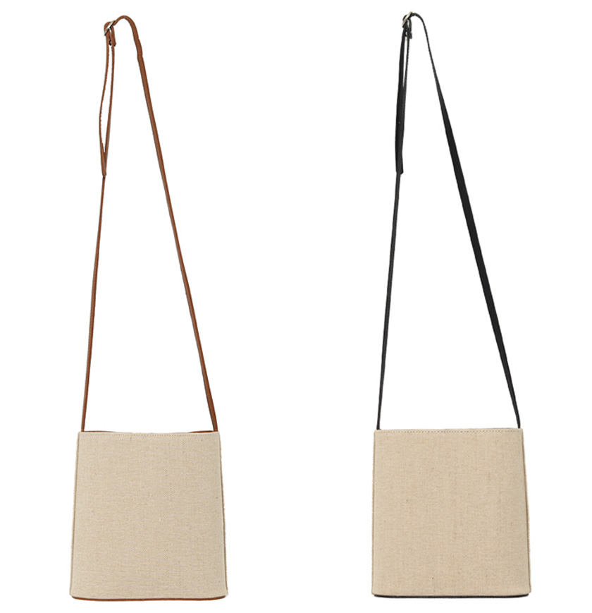 Inside point linen cross bag_C