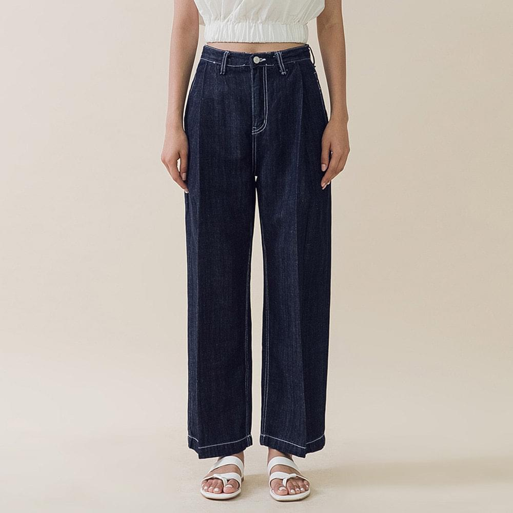 Cotton front wrinkle pants パンツ