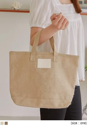 ANTHONY LINEN PATCH TOTE BAG 托特包