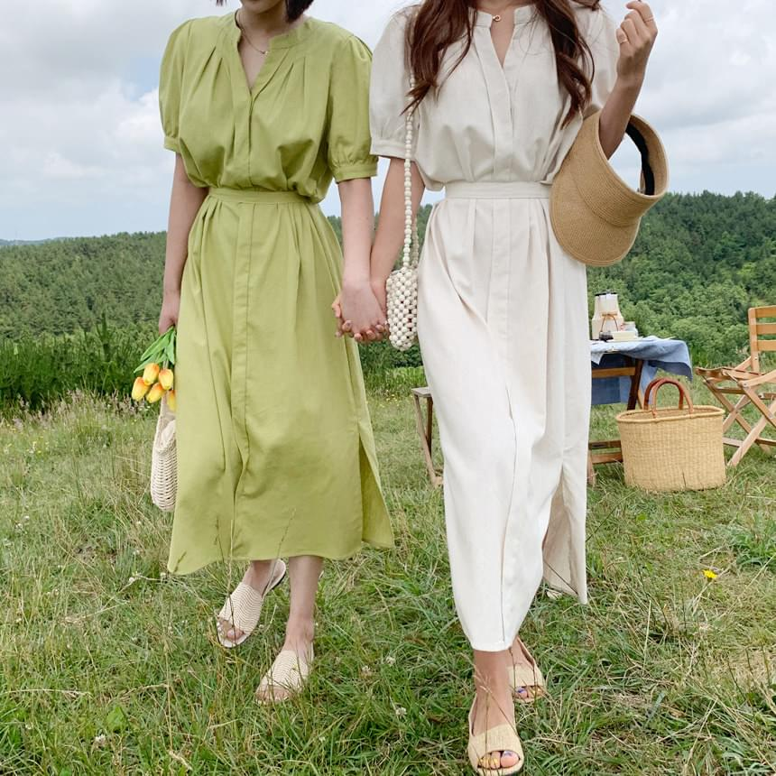 Linen Heavy Ning Long Dress 洋裝