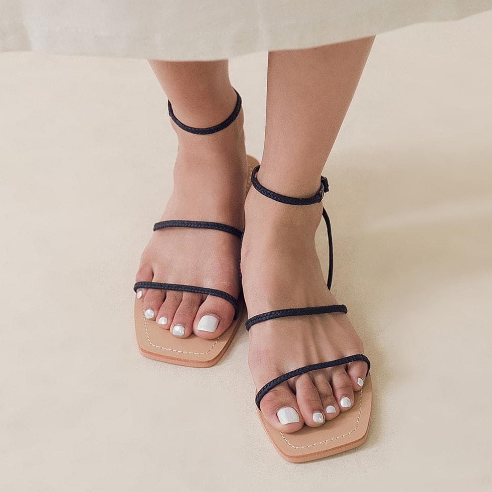 Tennis strap sandals