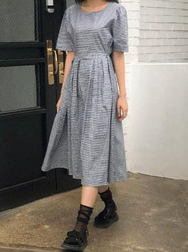 Flare petit check dress
