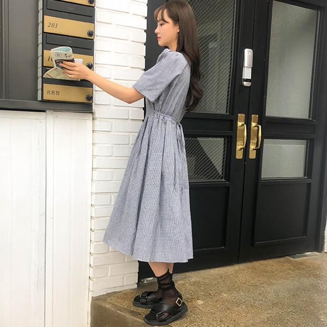 Flare petit check dress
