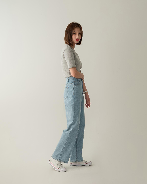 high-waist maxi fit pants