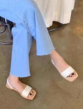 韓國空運 - Fine simple strap sandal_J 涼鞋