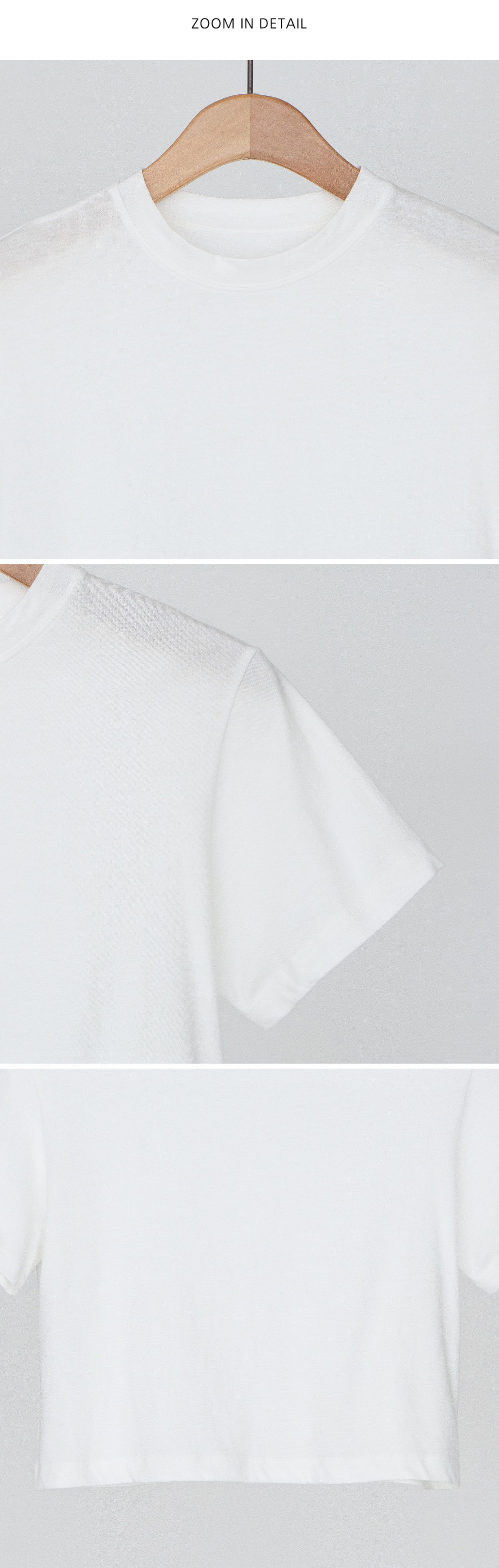 Simple Basic Cotton Crop Tee-tee