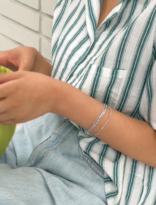 layered three chain bracelet