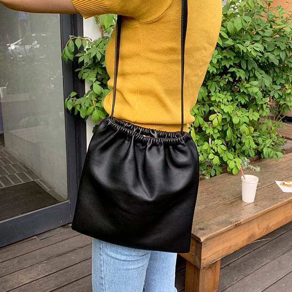 Shirring leather bag