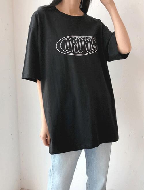 韓國空運 - Drunken Half Sleeve T-shirt 短袖上衣