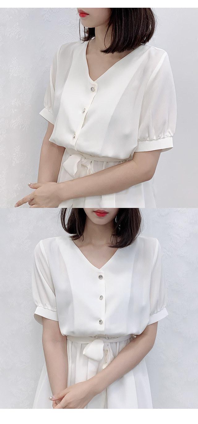 Ships same day ♥ Ruby short sleeve ribbon ops