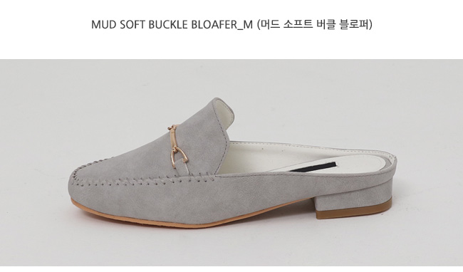 Mud soft buckle bloafer_M