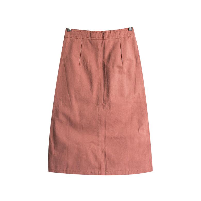 Cutting pocket cotton skirt
