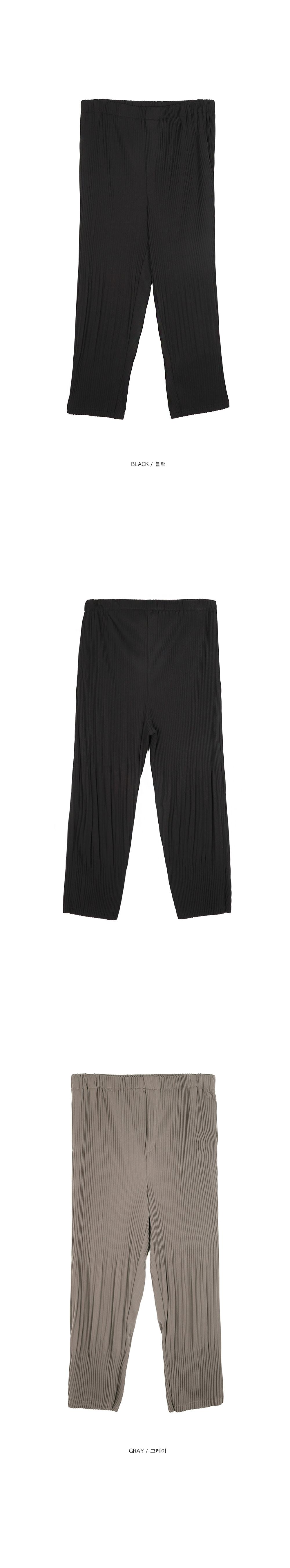wrinkle banding pants - UNISEX