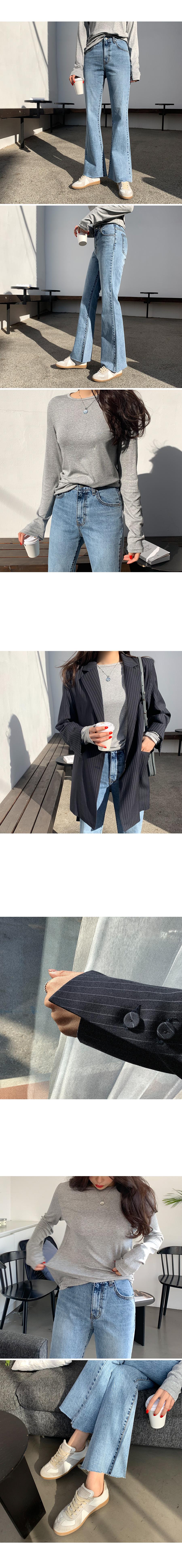 Vogue pinstripe belt jacket