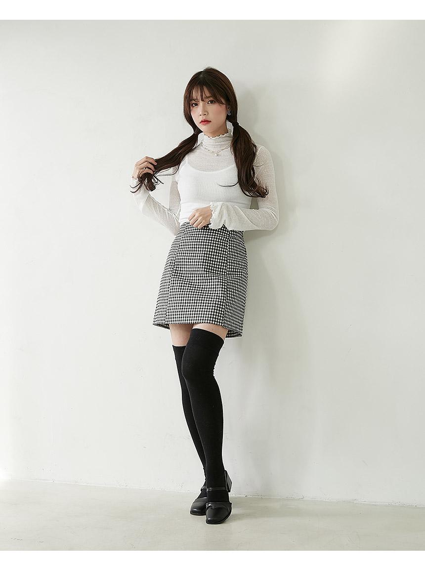 Human gingham skirt