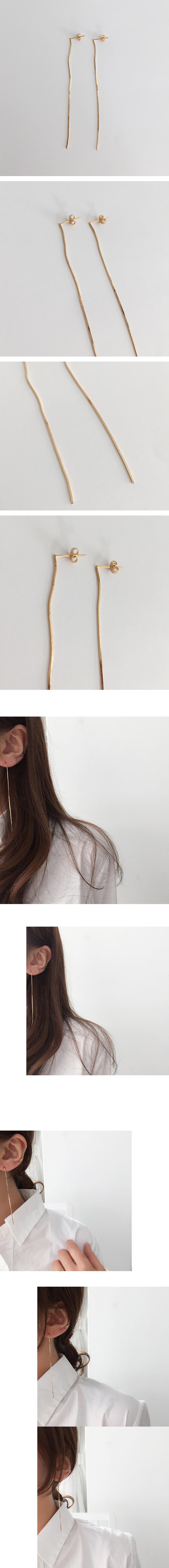 (silver925) falling earring