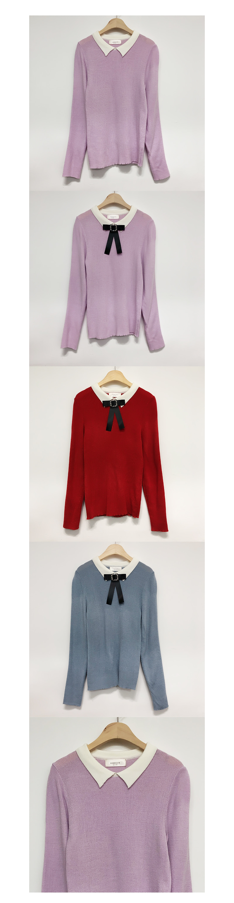 Shipped same day, self-made ♥ Brooch set Modern color knit