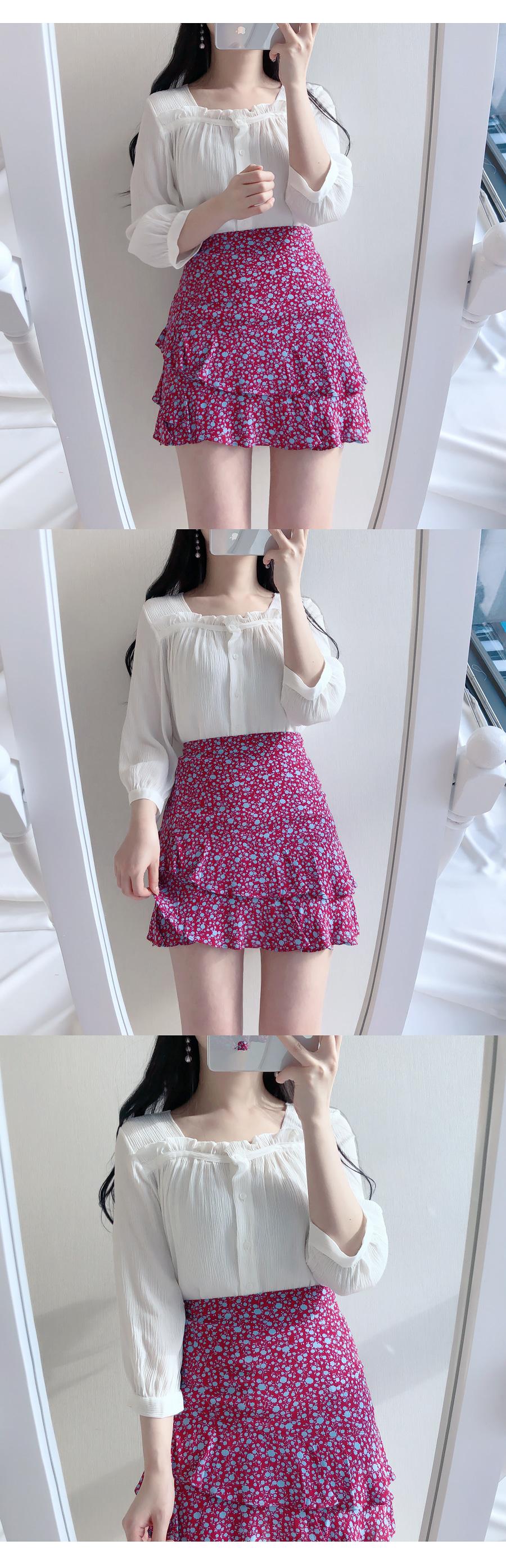 Square ruffle ♥ blouse