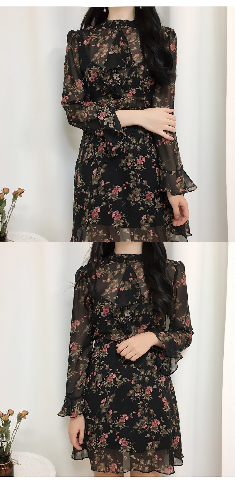 Order rush ♥ Floral Shisuru Flower Dress