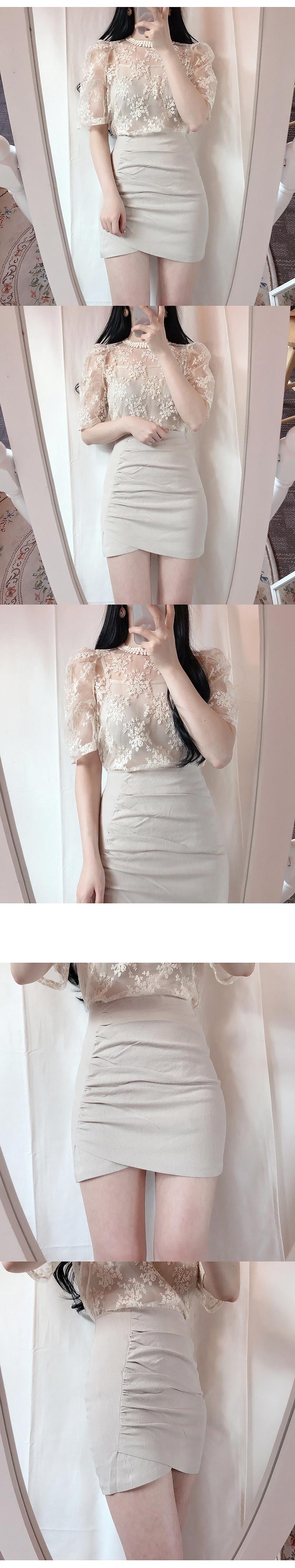 Order rush ♥ Fair race lace blouse