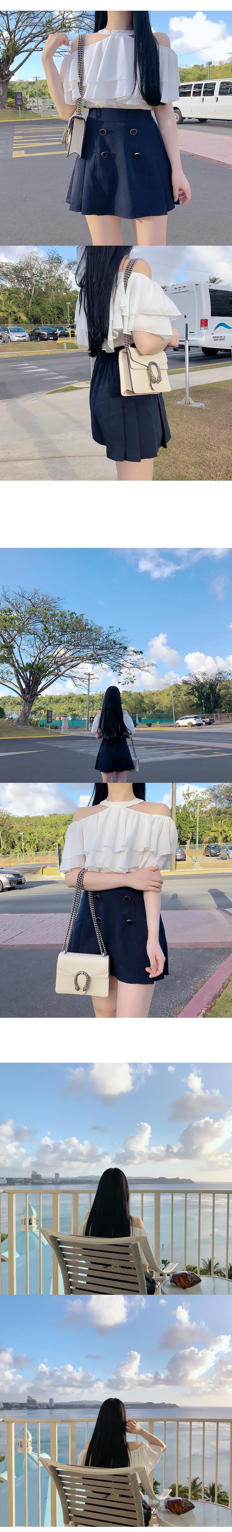 Holter canker off shoulder blouse