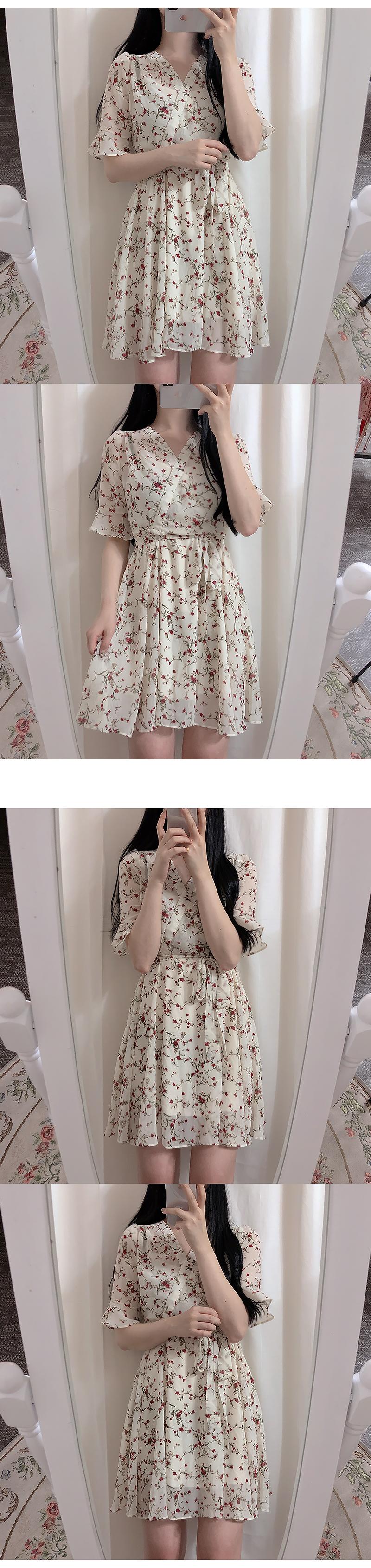 Daniel Chiffon Flower Dress